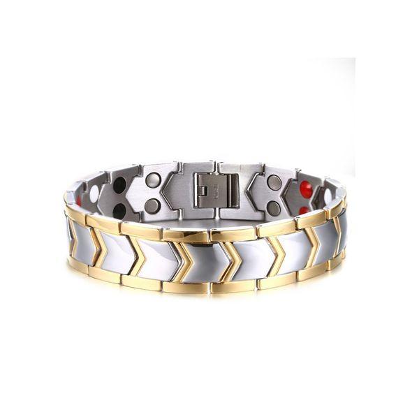 Argent Or Couleur Mode Simple Hommes Bracelet En Acier Inoxydable Pierres Précieuses Bracelet Bracelet Bijoux Cadeau pour Hommes Garçons J030