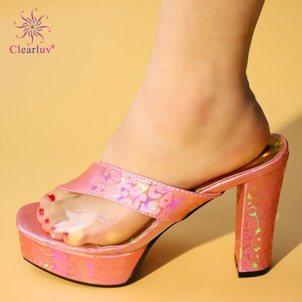 Haute Qualité Strass Femmes Chaussures De Mariage Femmes Chaussures Habillées Toe Ouverte À Talons Hauts Slingbacks Chaussures Femmes Africaines Parti Pompes