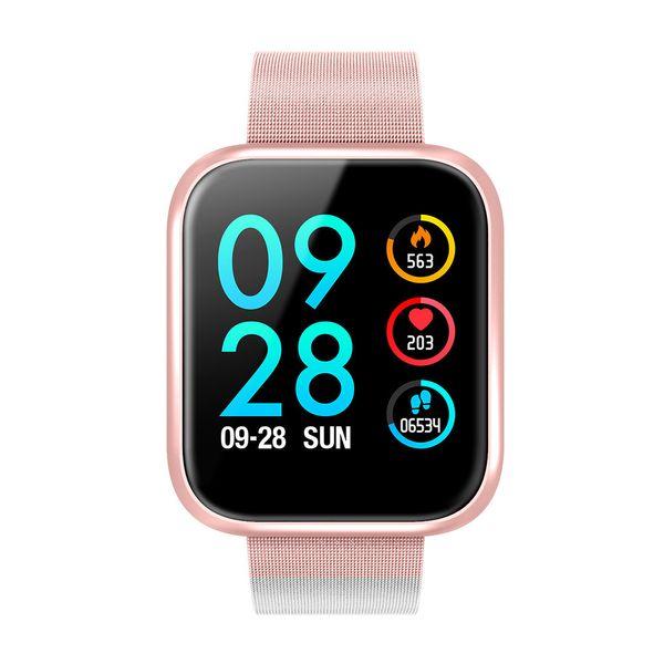 End Of The Year P70 Color Screen Intelligence Bracelet Heart Rate Blood Pressure Testing Sleep Testing Motion Plan Step Waterproof