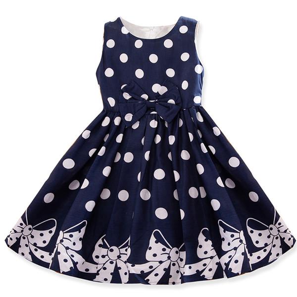 Kids Dresses For 2019 Summer Girls Dress Polka Dots Princess Baby Party Dress For Kids Teenage Girl Children 4 5 6 7 8 9 10 12 Years