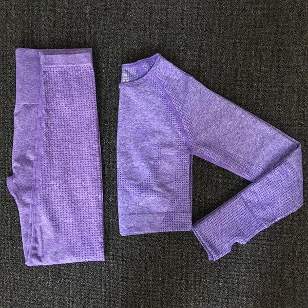 Púrpura 2pcs set