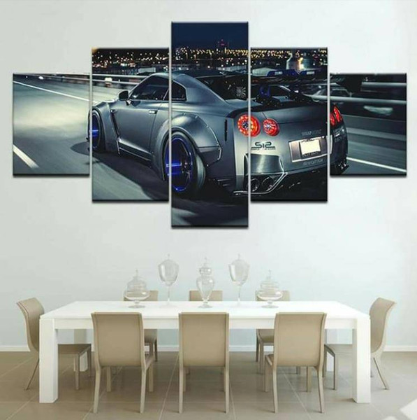 Wall Art Canvas Painting HD Prints Home Decoration 5 Pieces Car Modular Pictures Artwork No Frame