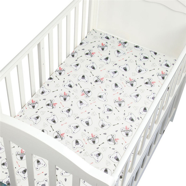New Cotton Baby Crib Fitted Sheets Baby Crib Sheets Soft Breathable Bed Mattress Cover Potector Newborn Bedding for Cot