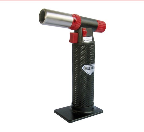 Hot on sale 1300C Butane Scorch torch jet flame lighter kitchen torch Giant Heavy Duty Butane Refillable Micro Culinary Torch Self-igniting