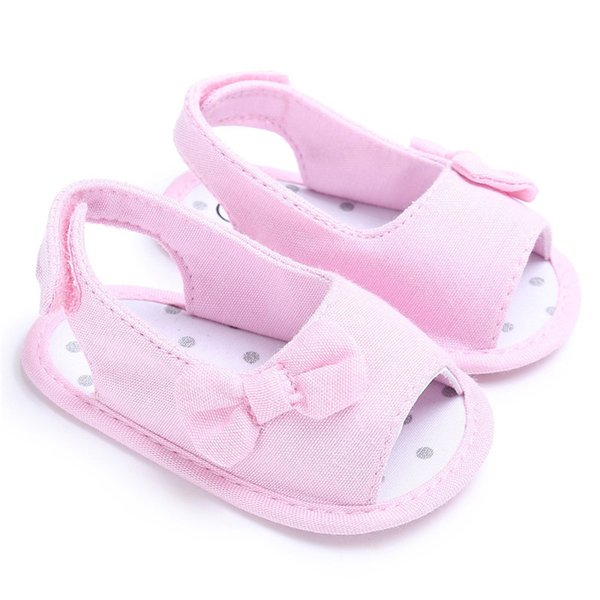5 Color Summer Baby Shoes Newborn Toddler Baby Girl Soft Sole Bowknot First Walker Crib Prewalker Shoes NDA84L24