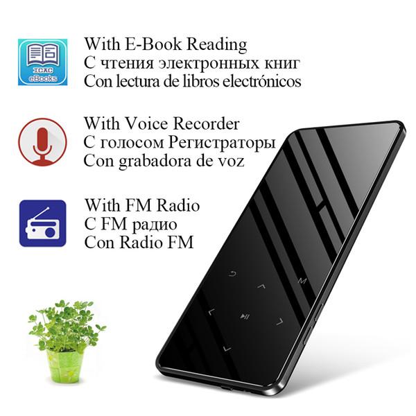İnce 2.4 Inç Dokunmatik Tuşları Fm Radyo Video Hifi Bluetooth ile 8 GB MP4 Çalar Lecteur Mp3 Mp4 Müzik Çalar Taşınabilir Mp 4 Medya