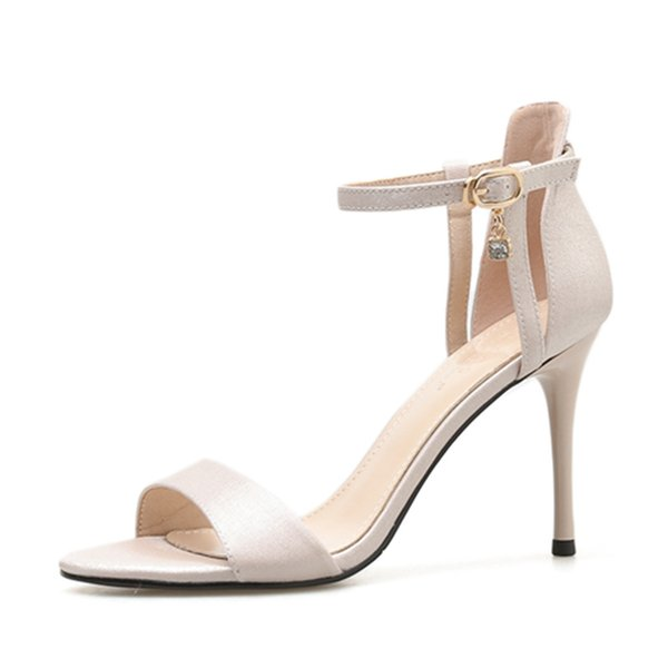 Summer 2019 New Type Opentoed Sandals Sexy Silk Highheeled Shoes Thinheeled Crossborder Factory Delivery Womens Shoes