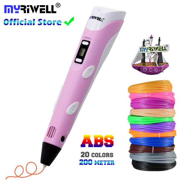 best selling Children 3D Pen Printer Drawing Printing Best For Kids With ABS Filament 1.75mm Diy Christmas Birthday Gift