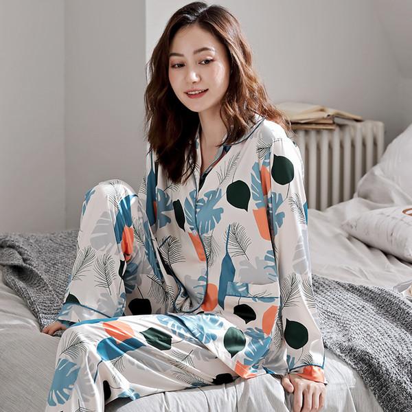 Conjunto de pijama de satén de seda para mujer Conjunto de pijama de pijama Ropa de dormir Ropa de salón M, L, XL, 2XL, 3XL Talla Bigyard