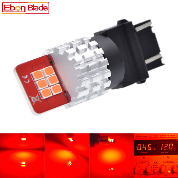 1Pcs Newest T25 3156 3157 P27W P27/7W Super Bright Red LED Bulbs For Auto Rear Brake Stop Signal Light Car Styling 9V-16V DC