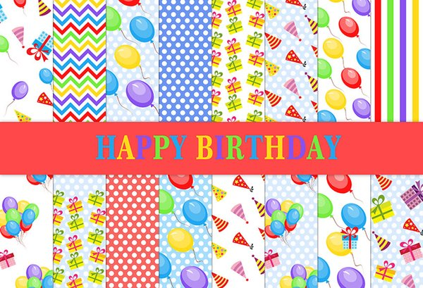 7x5ft Balloons Gifts Colorful Polka Dots Happy Birthday Party Custom Photo Studio Background Backdrop Vinyl 220cm x 150cm