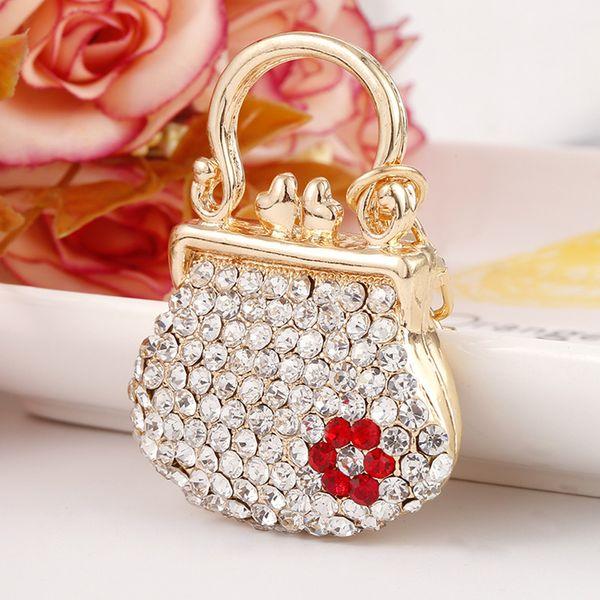 Handbag Keychains Crystal Rhinestone Charm Keyrings Bag Purse Pendant Key Chain