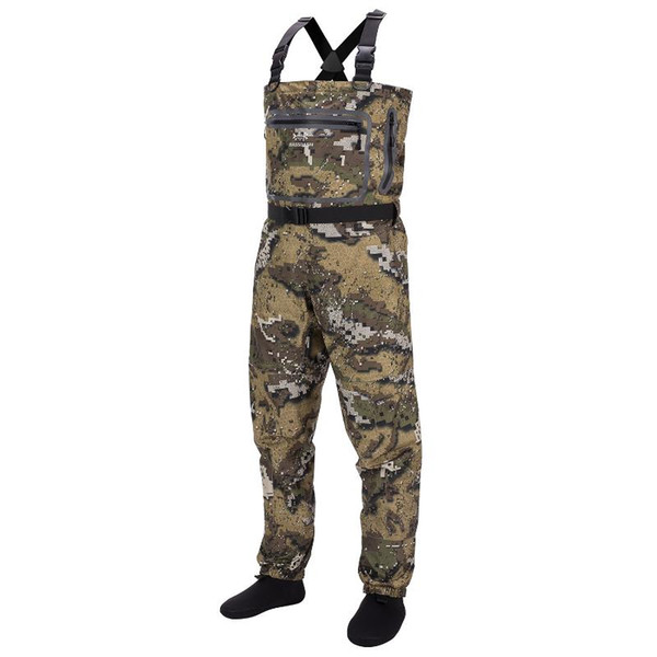 bassdash veil camo chest stocking foot fishing hunting waders for men, breathable and ultra lightweight in 7 sizes thumbnail