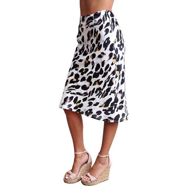 2019 новый женский Винтаж сексуальная змеиная кожа печати плиссированные миди юбка faldas mujer женские кнопки повседневная тонкий шикарный бренд юбки
