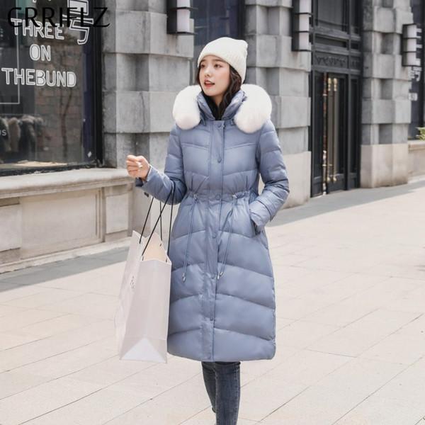 Winter New Womens Fur Hooded Duck Down Parka Jackets Long Lady/'s Outerwear Coats