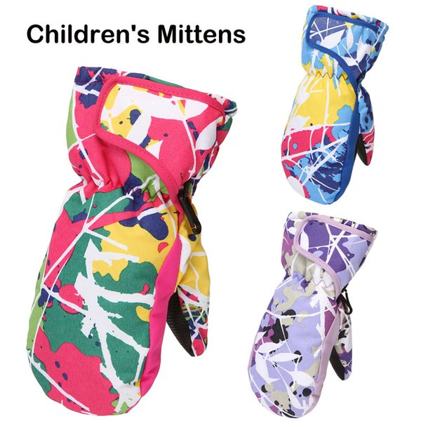 Newest 3 Colors Children's Gloves Sport Windproof Riding Skiing Snow Cycling Mittens Winter Outdoor Warm Gloves for Kids Girls Boys M89F