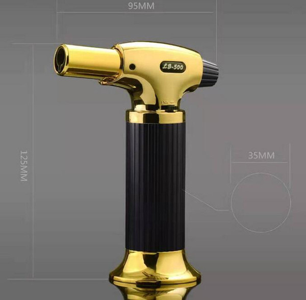 Professional Torch Jet BBQ Lighter Scorch Flame Chef Cooking Refillable Picnic Butane Gas Lighters for Smoking Tools
