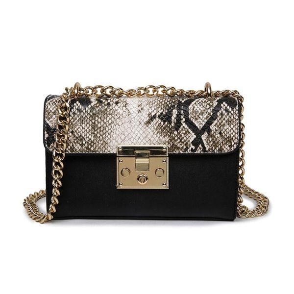 Sacs de créateurs de sac à main de luxe pour les femmes 2018 à rabat en cuir d'embrayage sac à main chaîne Serpentine Ladies épaule Messenger Sacs Sac A Main