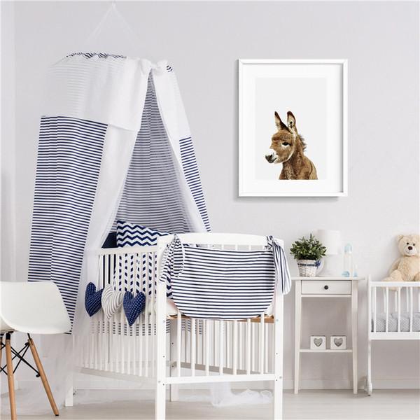 Acquista Cute Baby Donkey Carino Animale Minimali Tela Pittura Stampa  Camera Da Letto Home Decor Moderna Di Arte Della Parete Pittura A Olio  Poster ...