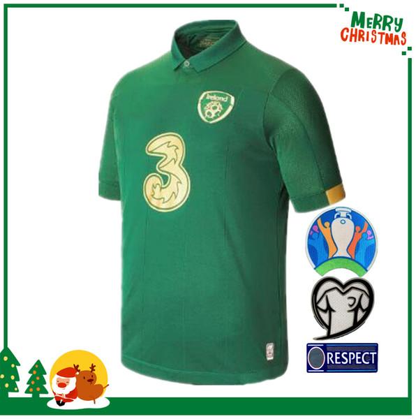 19 20 Ireland FC Taça da Europa casa longe 2,019 2,020 Irlanda do homem e crianças kit de futebol Soccer Jersey