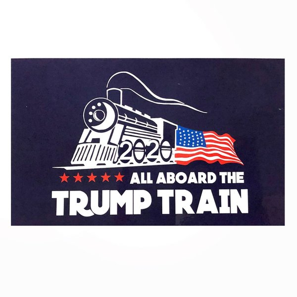 Creative 2020 Trump Car sticker Fashion Donald Stickers Train window Sticker Home Living Room Decor Wall Stickers TTA775