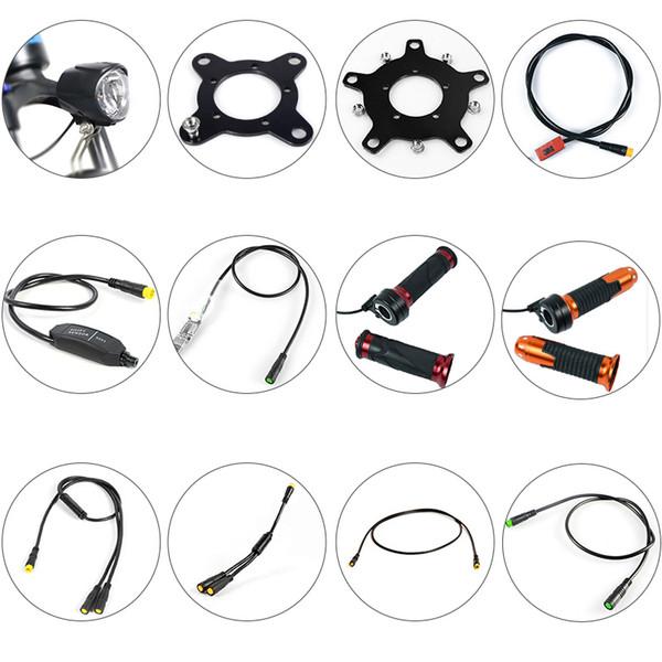 BAFANG Motor Parçaları Dişli Sensörü Ekran Uzatma Kablosu USB Programlama Kablosu Y-Splitter Fren Gearsensor Büküm Gaz 6 V Işık