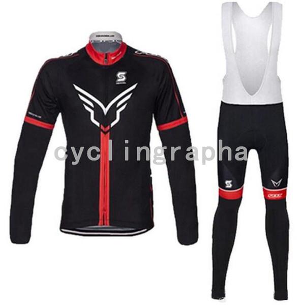 2019 NOVO FELTRO GIGANTE Pro team Ciclismo de manga comprida jersey conjuntos de calças de secagem rápida Ciclismo MTB bicicleta Ciclismo Sportswear Ropa