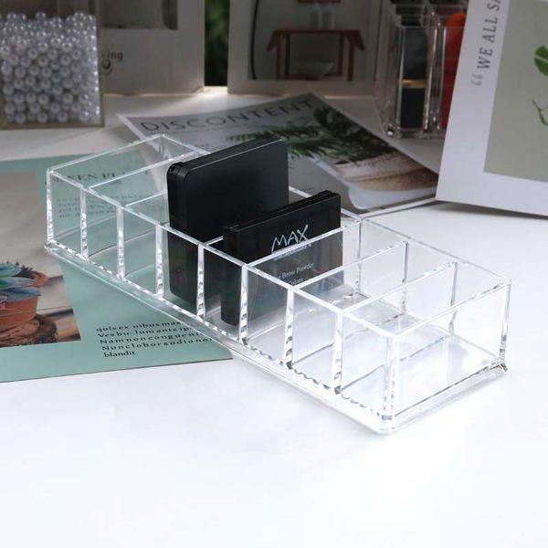 Clear Plastic 8 Slots Blush Powder Household Cosmetics Storage Box Lipstick Holder Makeup Organizer Cosmetic Makeup Tools Case