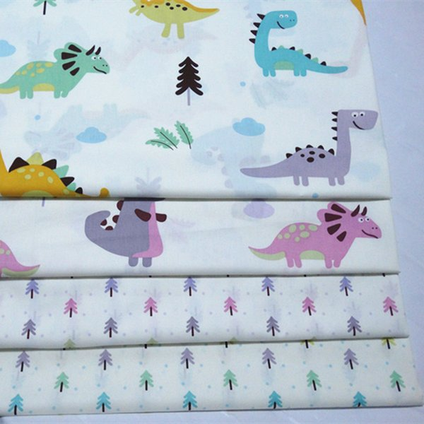 Dinosaur and tree print 100%cotton fabric for baby cloth 10yards/lot tomo1827