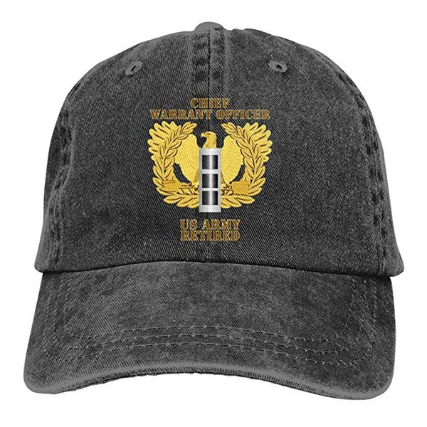 2019 New Cheap Baseball Caps US Army Retired Chief Warrant Officer Emblem CW3 Mens Cotton Adjustable Washed Twill Baseball Cap Hat