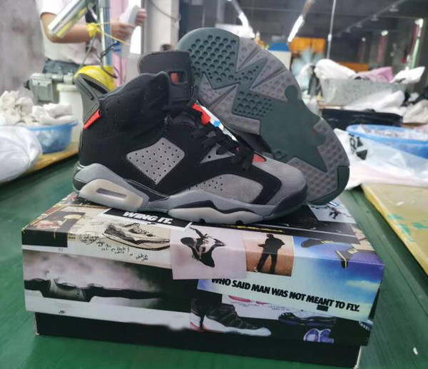 biggest discount store shades of New Releases 6s Mens Basketball Shoes PSG Paris Saint Germain Grey Suede  LTR Flint CNY Maroon Men 6s Hatfield Sports Sneakers With Box Barkley Shoes  ...