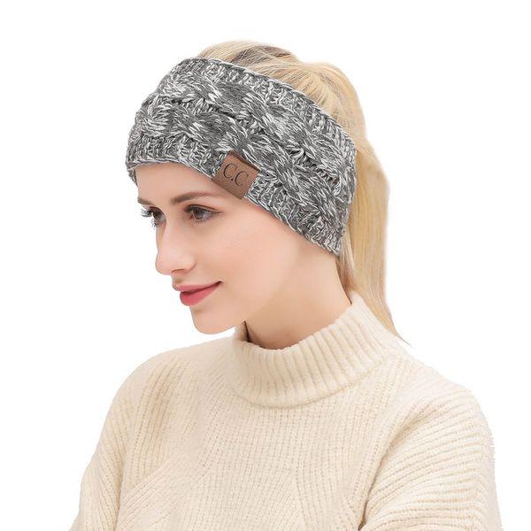 Designer Knitted Headband Adults Man Woman Sport Winter Warm Beanies Hair band Boho headbands Fascinator Hat Head Dress Headpieces