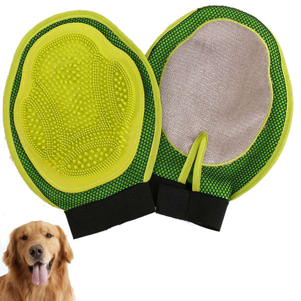 100 stücke Pet Deshedding Handschuh Katze Hund Haarentferner Pflege Massagebürste für Goldene Große Mideum Hund
