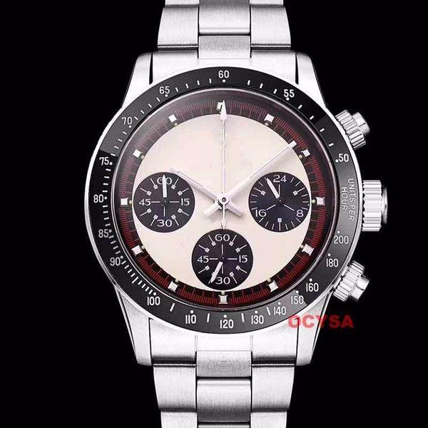 Vintage Paul Newman Japanese Quartz Chronograph Stainless Steel Nano Strap VK Luxury Mens Designer Watches Watch Wristwatches