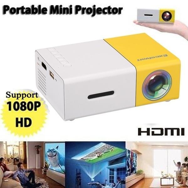 2019 Aggiorna YG - 300 LCD LED Mini proiettore Supporto multimediale per casa Supporto lettore film 1080P AV / USB / scheda SD / 320 x 240 HDMI / USB / AV / CVBS per Ho