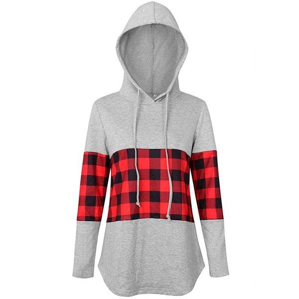 plaid hoodie A3