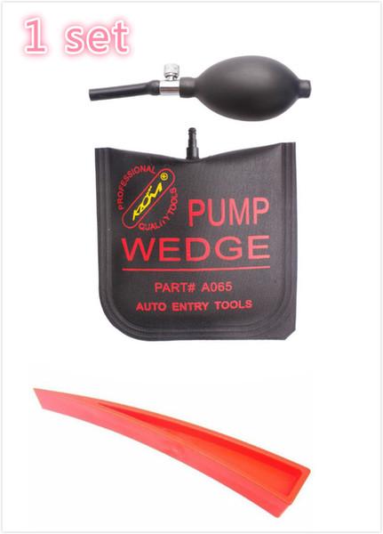 best selling KLOM brand pump wedge set good quality Airbag New for Universal Air Wedge LOCKSMITH TOOLS Lock Pick Set Door Lock Opener black