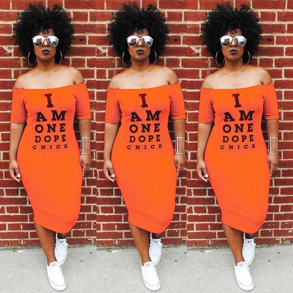 HISIMPLE 2019 S-3XL Summer Women Dresses Letter Print Slash Neck Short Sleeve Fashion Casual Sexy Bodycon Bandage Club Night Midi Dress