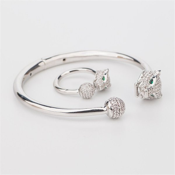 New Luxury Classic Bracelets Rings Hot Fashion Designer Animals Rings Bangles Sets Gold Silver Rose Couple Wedding Jewelry Set Lovers Gifts