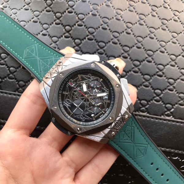 Hochwertige Herren Sport Armbanduhren Casual Fashion Sportuhr Chronograph Herrenuhr Automatik Datum Uhren Herren Geschenk
