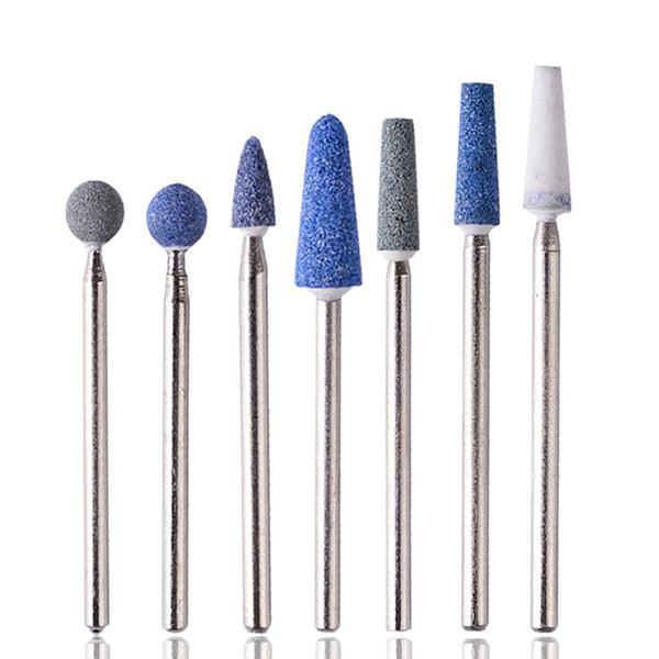 Compre Pro Color Azul Piedras De Cerámica Brocas De Uñas Rotarry Cortador De Limpieza Eléctrico Nail Art Manicure Mill Tool A 341 Del May512