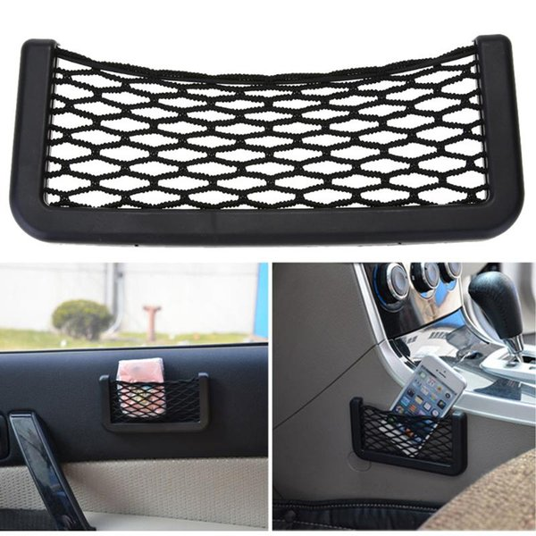 pocket VODOOL Universal Car Trunk Box Storage Bag Mesh Elastic Trunk Organizer Mesh Phone Holder Pocket Net Luggage Holder 20cm*8cm