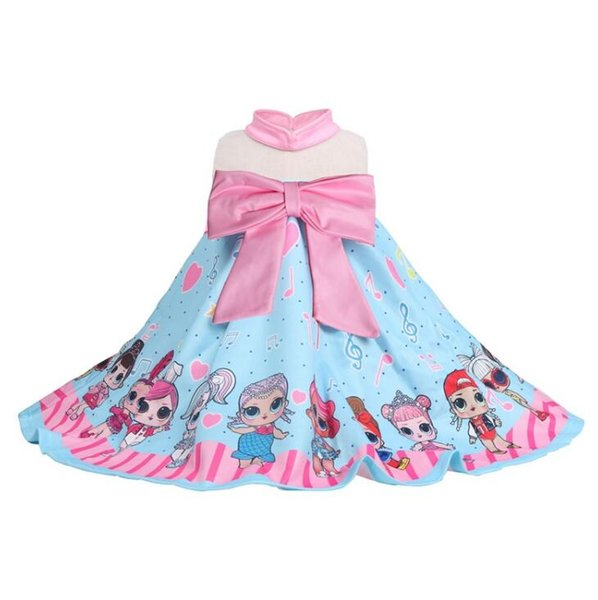 INS Hot Girls surprising doll Sleeveless Summer Flower Child Princess Skirt TUTU dress for 3-7T girls surprise baby dress