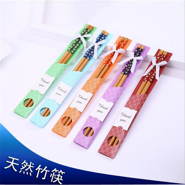 top popular Bamboo Chopsticks Practical Chopstick Natural Woodiness New Style Chopsticks Personalized Wedding Favors Giveaways Gift Hot Selling 0 8zl p1 2021