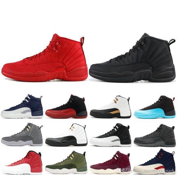 12 s 12 alta tênis de basquete dos homens ginásio de lã vermelha Michigan Nylon táxi Gamma Nyc Azul Xii Homens Sapatos de Grife Esporte Tênis Us 7-13
