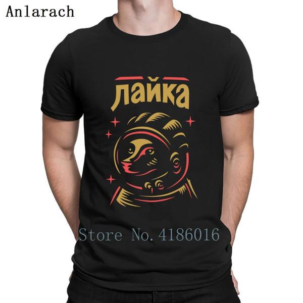 Russian Laika Spacemen T Shirt Authentic Top Quality HipHop Top Sunlight Custom the Soviet Union Tshirt Humorous Cotton