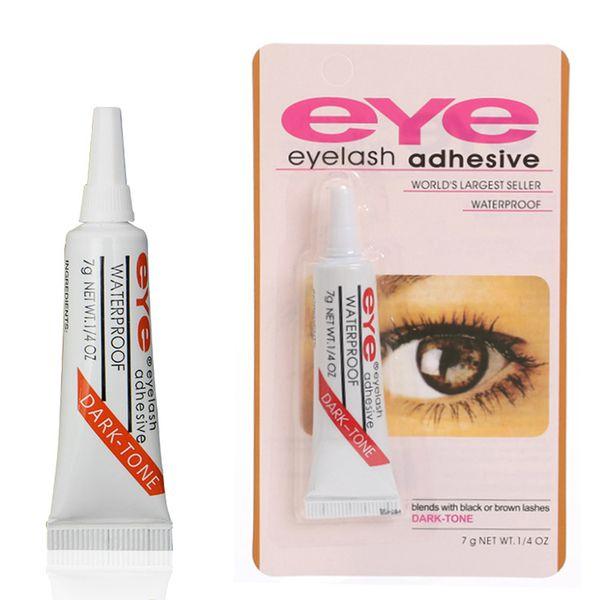 estoque! Prático cola para cílios Clear-branco / Dark-preta Waterproof pestanas falsas composição adesiva Eye Lash Glue Cosméticos Ferramentas frete grátis