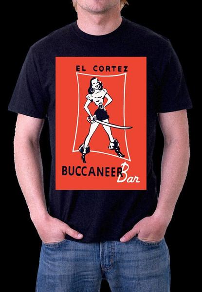 EL CORTEZ CASINO OLD LAS VEGAS BUCCANEER BAR T-Shirt INK PRINT S M L XL XXL XXXL cattt windbreaker Pug tshirt