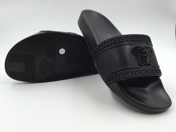 2019 nova marca quente homens praia sandálias de slides medusa scuffs 2017 chinelos mens moda praia branca slip-on designer sandálias tamanho 40-45