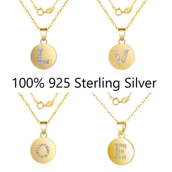 925 Sterling Silver Filled Initial Letter S CZ Earrings Pendant Gift Set